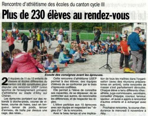 Hebdo 30 10 2014 Athlétisme écoles.JPG